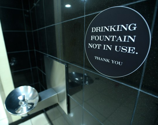 For shoppers' safety, drinking fountains are not in use, although, rest rooms are open at Somerset Collection.