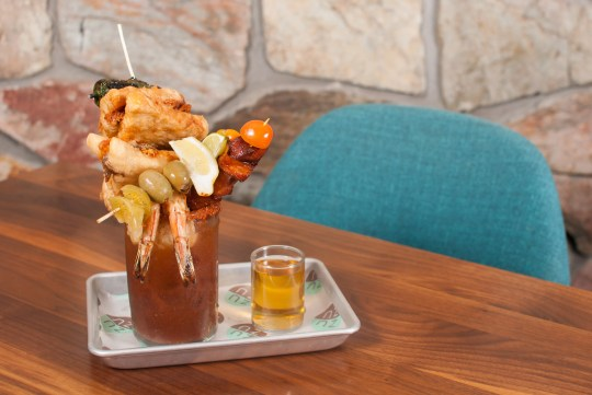 The King Kong Bloody Mary at ZuZu at the Hotel Valley Ho.