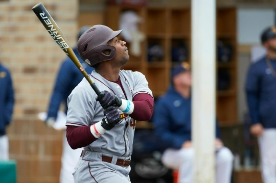 Zavier Warren of central Michigan, whom the Brewers selected with the 92nd draft pick, reached 0.369 with eight home runs, a program record of 23 doubles and 70 RBI in 2019.