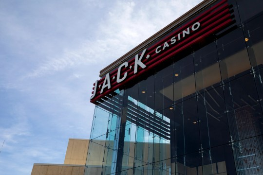 A view of the front entrance of JACK Cincinnati Casino on Friday, March 13, 2020, in Cincinnati.