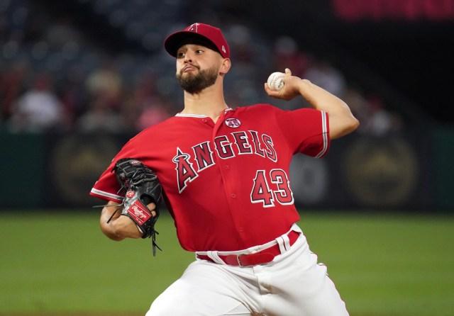 Los Angeles Angels pitcher Patrick Sandoval