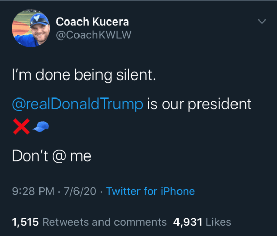Former Walled Lake teacher Justin Kucera said he was fired from his position after expressing his support for President Donald Trump on Twitter. The school district denied his support for Trump was a factor.