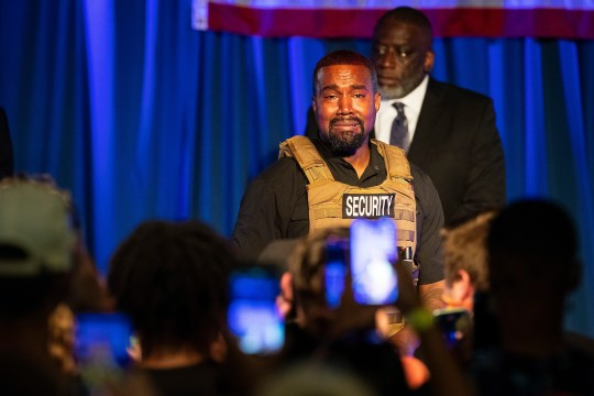 Kanye West makes his first presidential campaign appearance on July 19 in North Charleston, S.C.