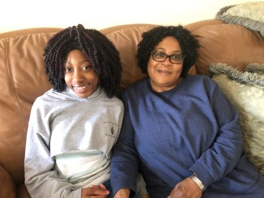 Shirley with her mom, Barbara Profit.