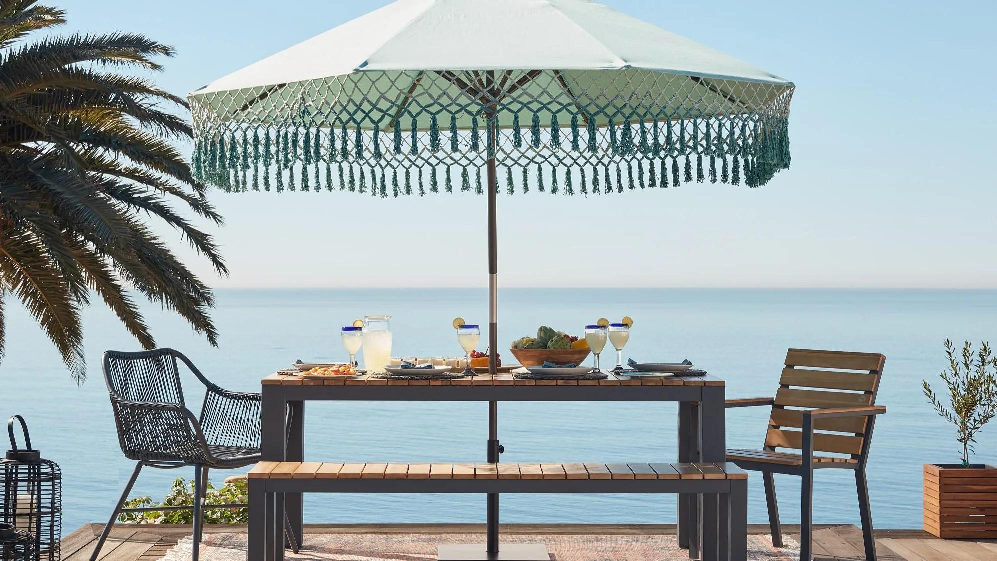 patio furniture sale save on umbrellas