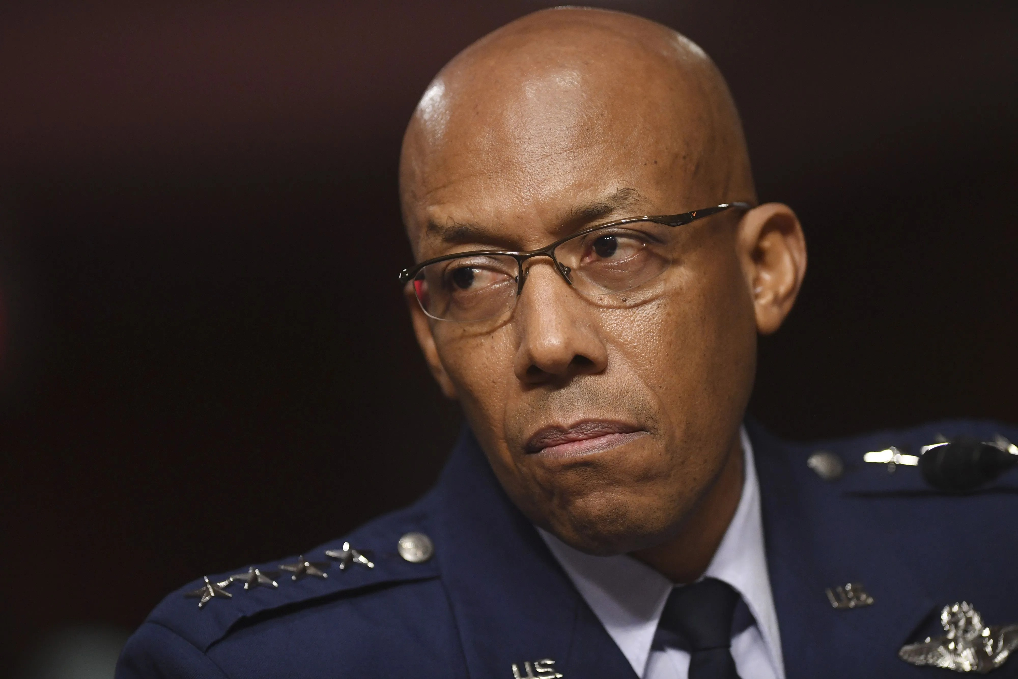 Gen. Charles Q. Brown Jr. testifies on his nomination to be Chief of Staff, United States Air Force, before the Senate Armed Services Committee in Washington on May 7, 2020. The Senate confirmed him in June, the first African American to ever lead one of the Pentagon's six armed services.