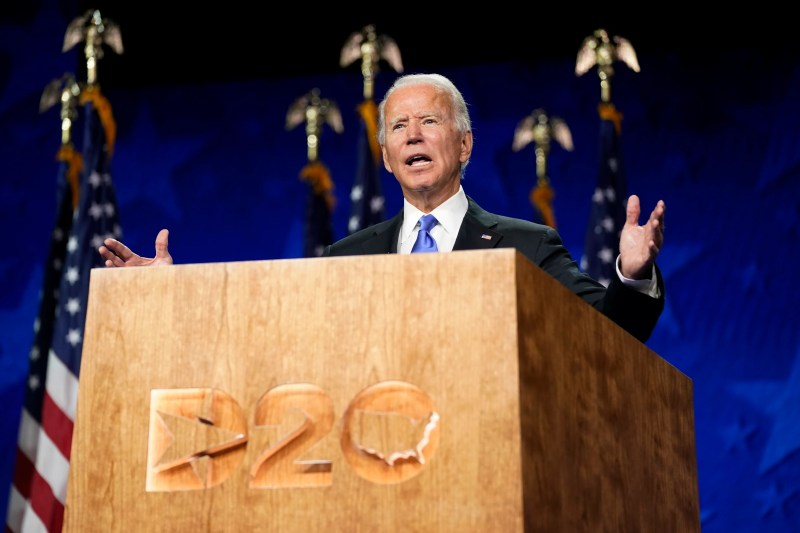Joe Biden accepts the nomination of the Democratic Party, delivers speech on four crises