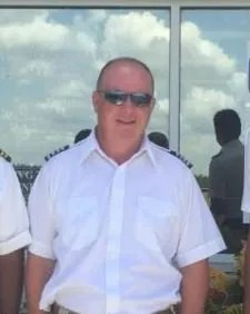 Geoffrey Painter in a photo posted on the Facebook page of Palm Beach County-based Cloud 9 Helicopters. Records show Cloud 9 is operated by Painter and David Jude. Both were killed July 4 in a helicopter crash in the Bahamas that also killed mining billionaire Christopher Cline, his daughter, and three other women.