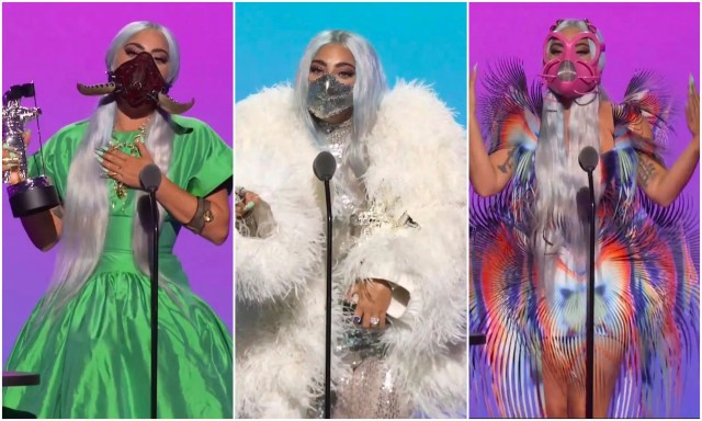 Leave it to Lady Gaga to make pandemic chic a thing. The pop superstar wore a different mask with each of her fierce outfits during the 2020 MTV VMAs.