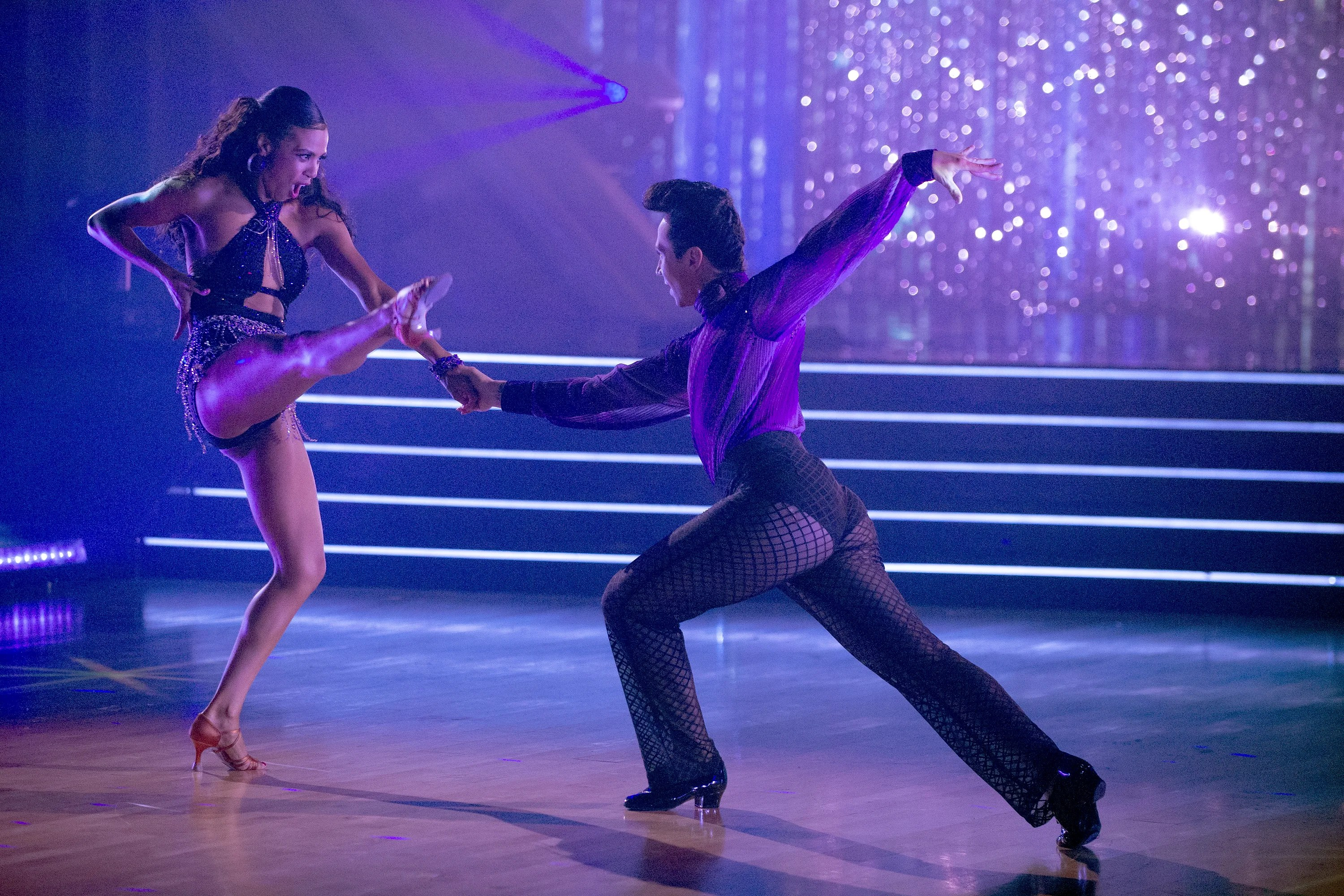 """Britt Stewart and Johnny Weir perform on """"Dancing With the Stars."""""""