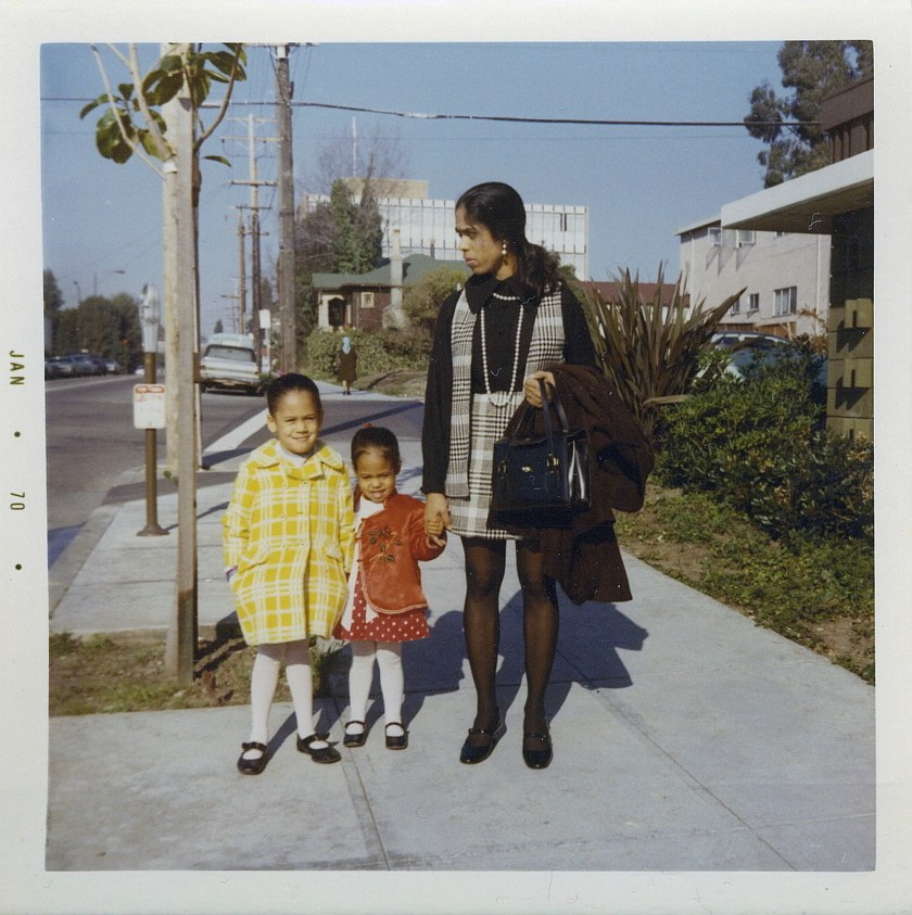 Kamala Harris, left, with her sister, Maya, and mother, Shyamala, in January 1970, in Berkeley, California.