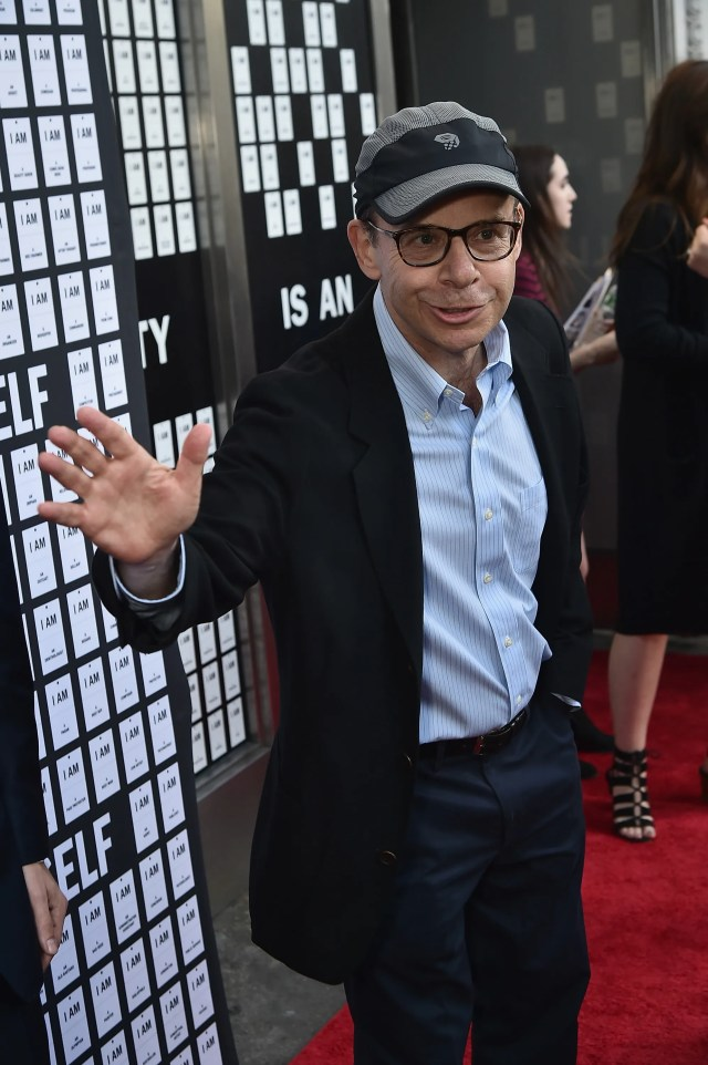 A suspect has been arrested for punching Rick Moranis, seen here on a red carpet in 2017.