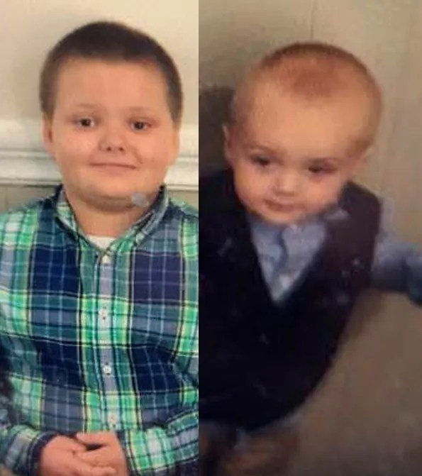 From left: Kaiden Wall, 6, and Kolden Wall, 2.