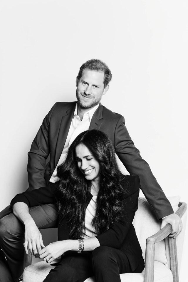 Prince Harry and Duchess Meghan of Sussex, in photo released in connection with TIME100 Talk appearance, Oct. 20, 2020.
