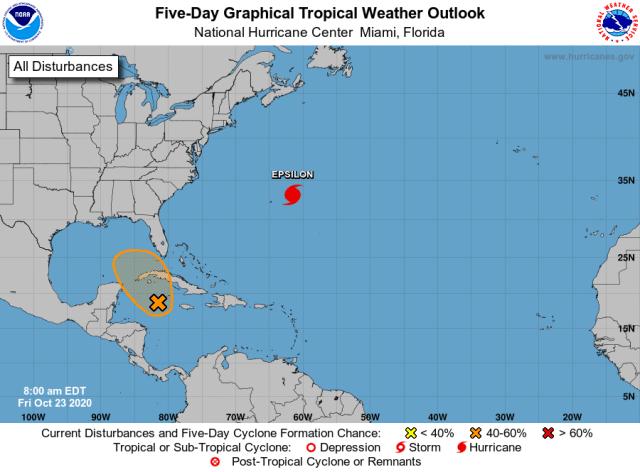 Tropics 8 a.m. Oct. 23, 2020.