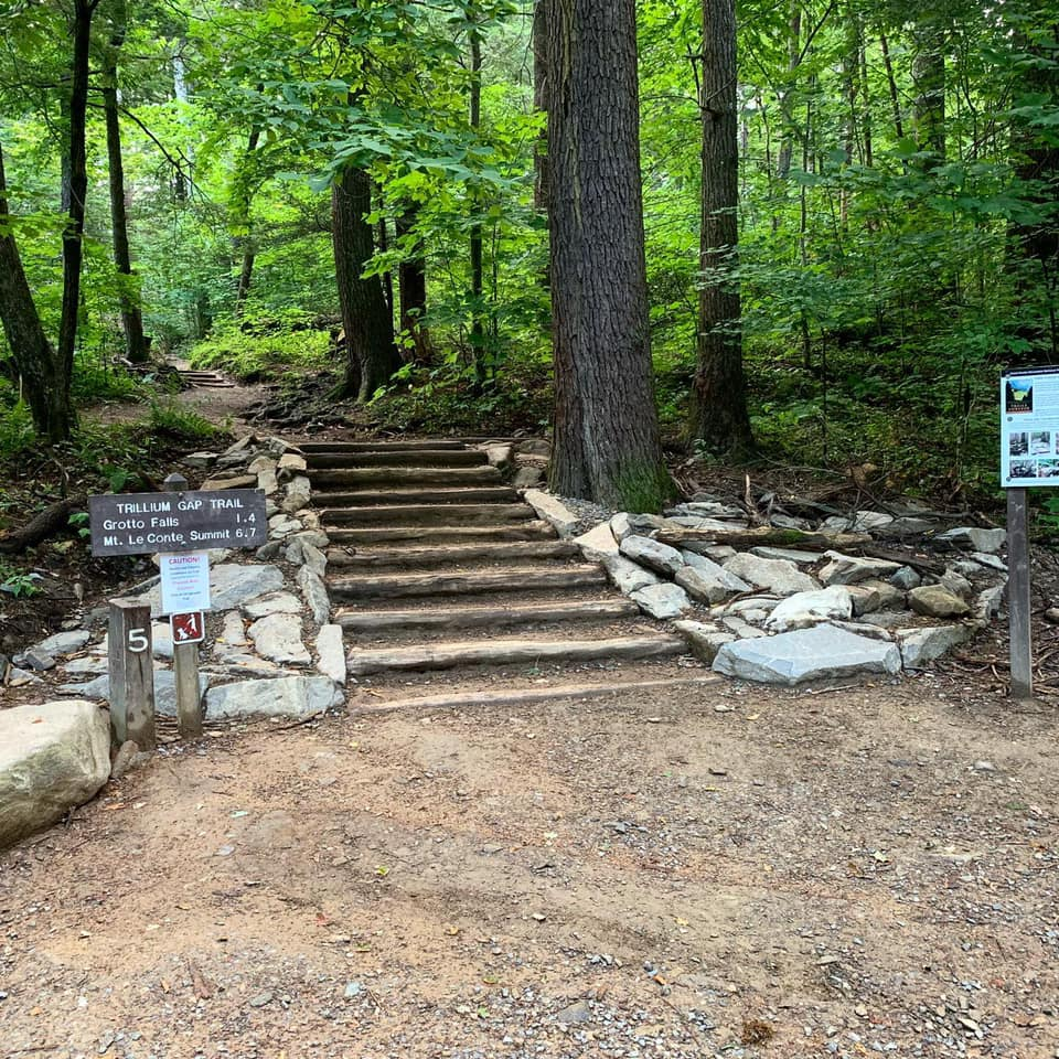 Plus, the location of grotto. Great Smoky Mountains National Park Trillium Gap Trail Gets Rehab