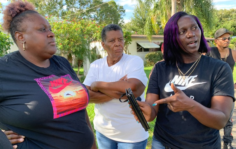 Left to right is Quasheda Pierce, mother of Sincere Pierce, Cynthia Byrd-Green, Sincere's aunt, and Tasha Strachan, mother of A.J. Crooms. Sincere Pierce and A. J. Crooms were killed Friday in a deputy-involved shooting. They are seeking answers about what happened.