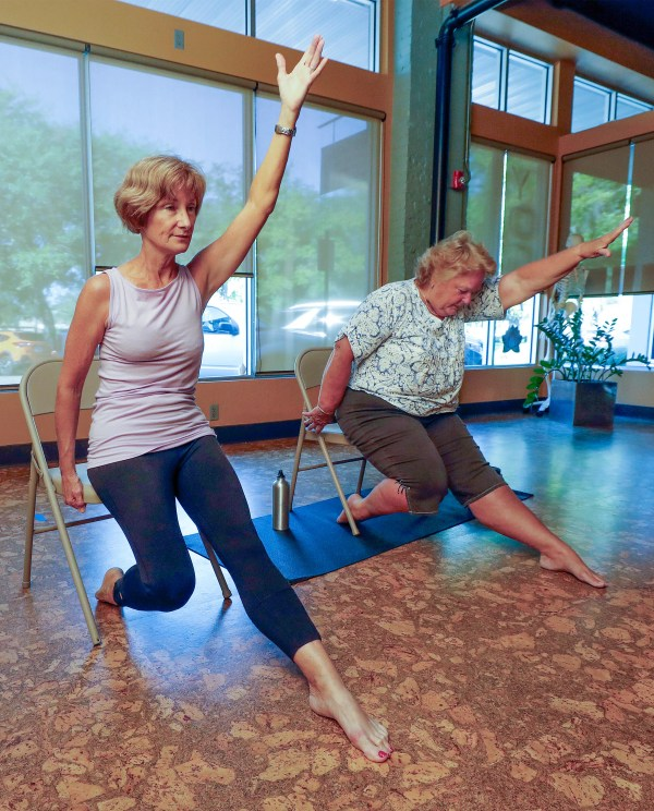 Chair yoga offers a gentler alternative to exercise (image)