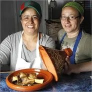 Sisters Amina (L) and Nouzha (R) Ghallay of Moroccan Hospitality.