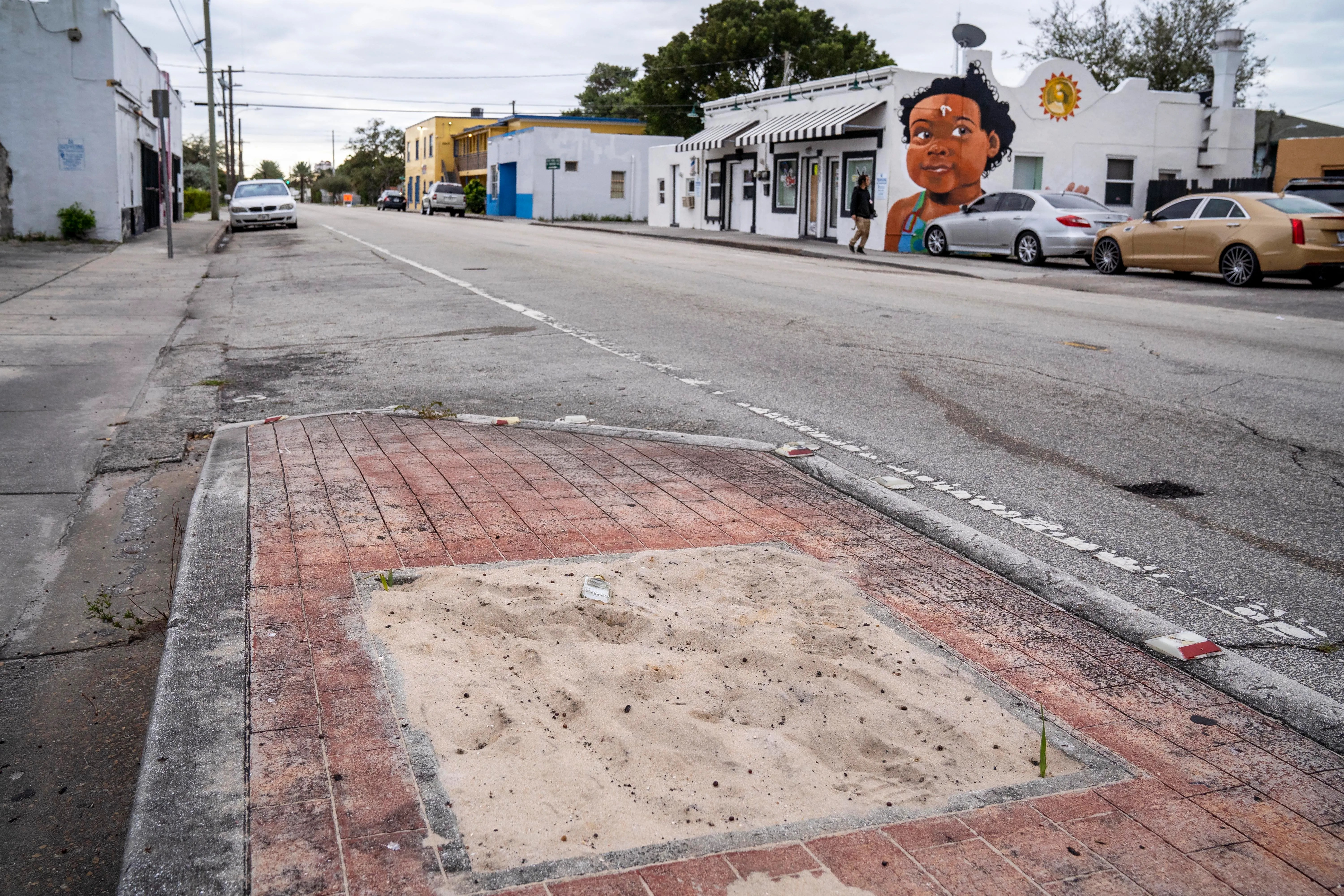 west palm beach getting upscale streetscape