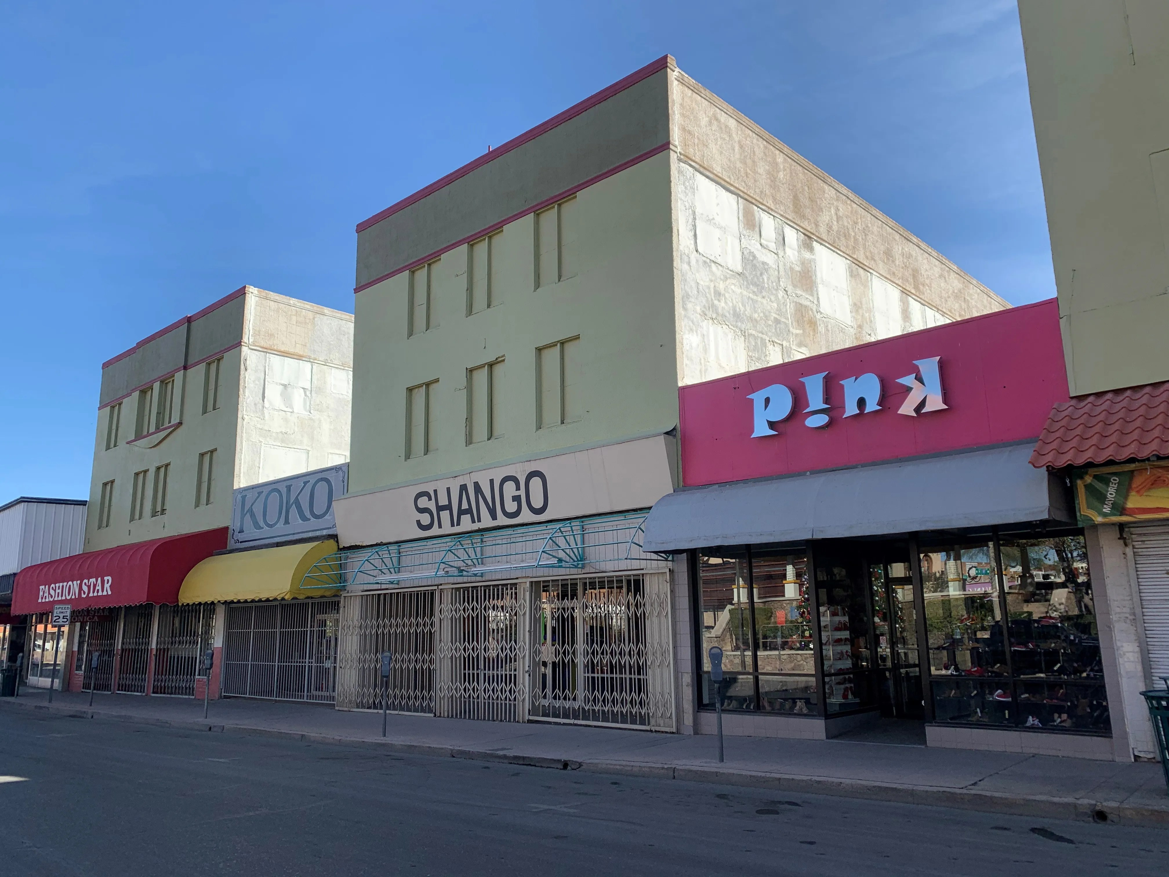 The majority of businesses along Morley Avenue in downtown Nogales remain closed because of COVID-19, as well as the lack of shoppers from Mexico who are unable to cross because of travel restrictions to keep the virus from spreading.