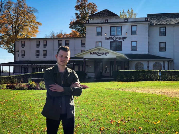"""Pittsburgh ghost hunter Brett McGinnis investigates reports that The Hotel Conneaut is haunted in the season premiere of Travel Channel's """"Ghost Nation."""""""