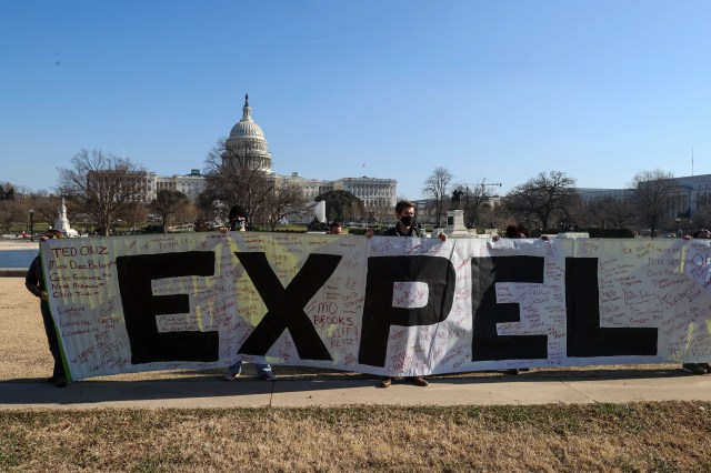 Protesters on Jan. 13, 2021, in Washington, D.C.