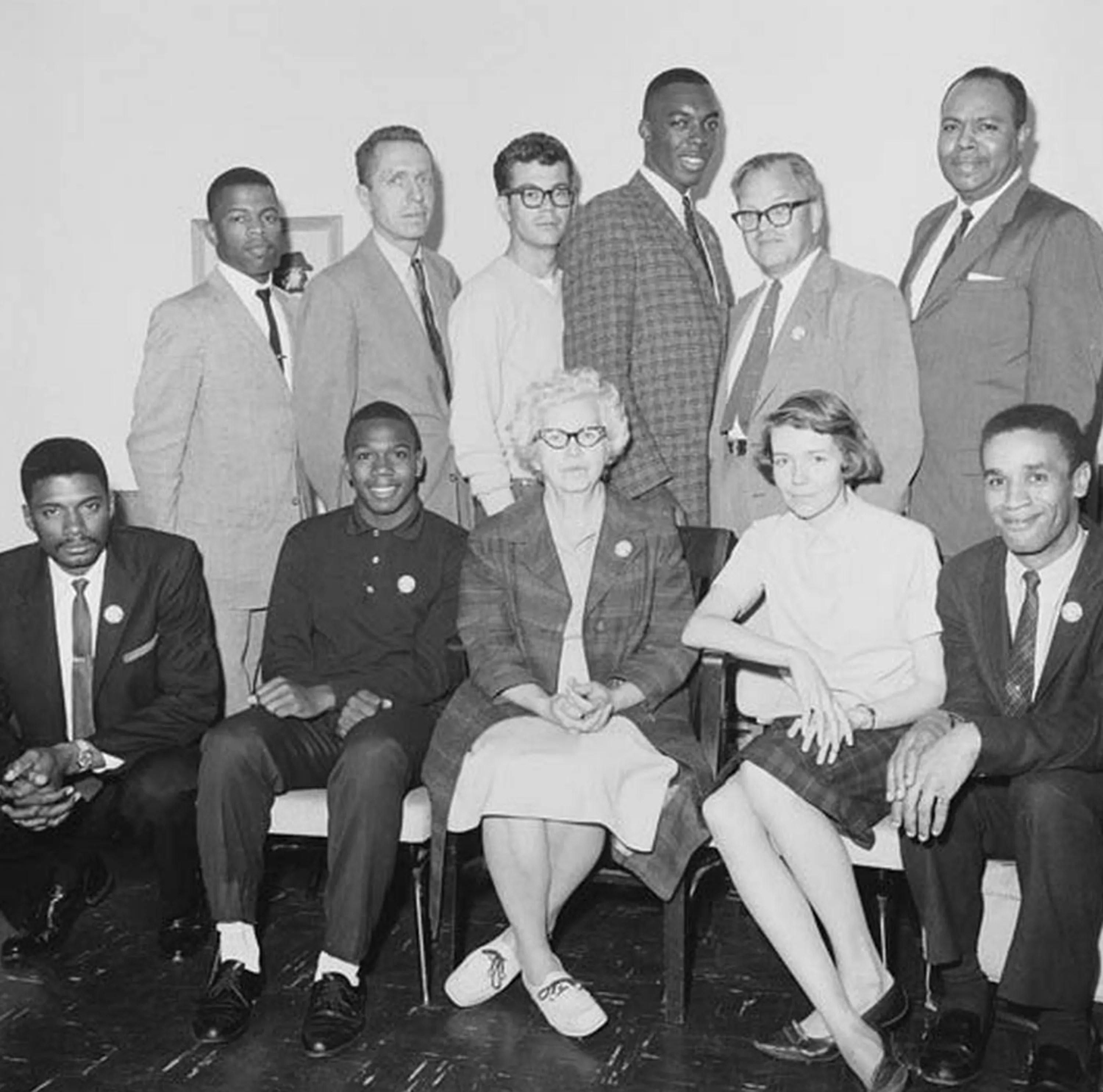 Eleven of the 13 original Freedom Riders sponsored by the Congress of Racial Equality in 1961.