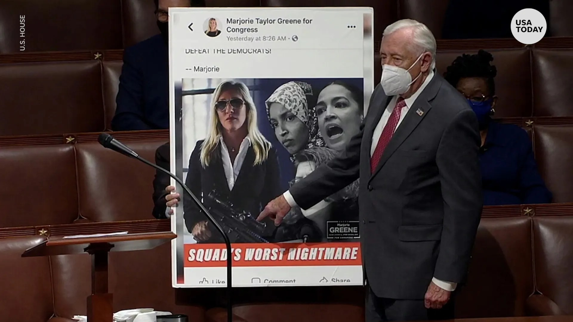 3ea5191a 6f48 422e ba1d 61feceb8e0f6 VPC REP. HOYER ON MTG DESK THUMB House removes Rep. Marjorie Taylor Greene from committees over incendiary social media posts