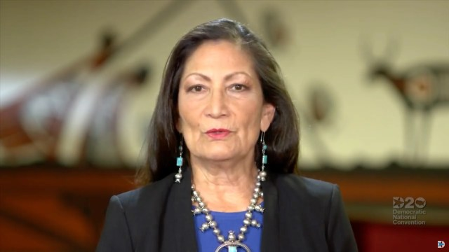 Rep. Deb Haaland of New Mexico on Aug. 20, 2020, in Milwaukee, Wisconsin.