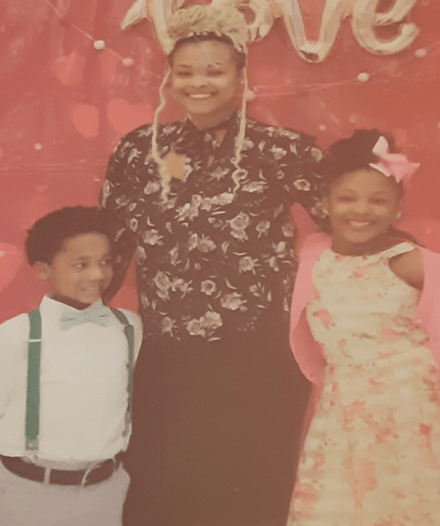 Paige Benjamin, an unemployed Army veteran who lives in Breaux Bridge, Louisiana, with her two children.