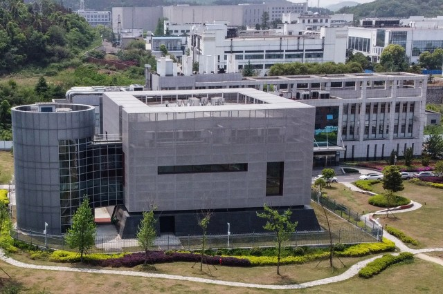 This file photo taken on April 17, 2020 shows an aerial view of the P4 laboratory at the Wuhan Institute of Virology in Wuhan in China's central Hubei province.