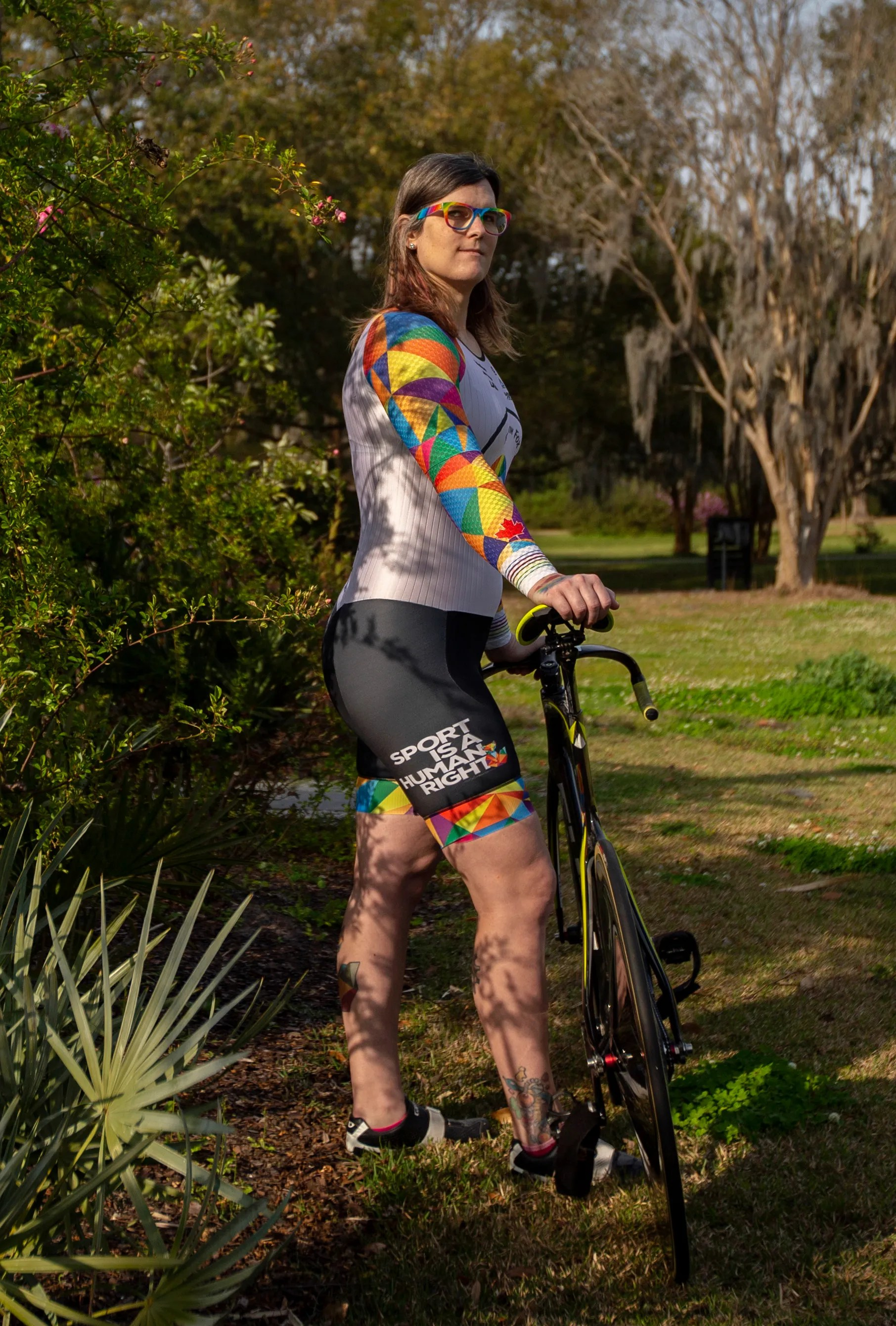 Veronica Ivy says she oftenfaces transphobic verbal attacks from spectators at cycling competitions.