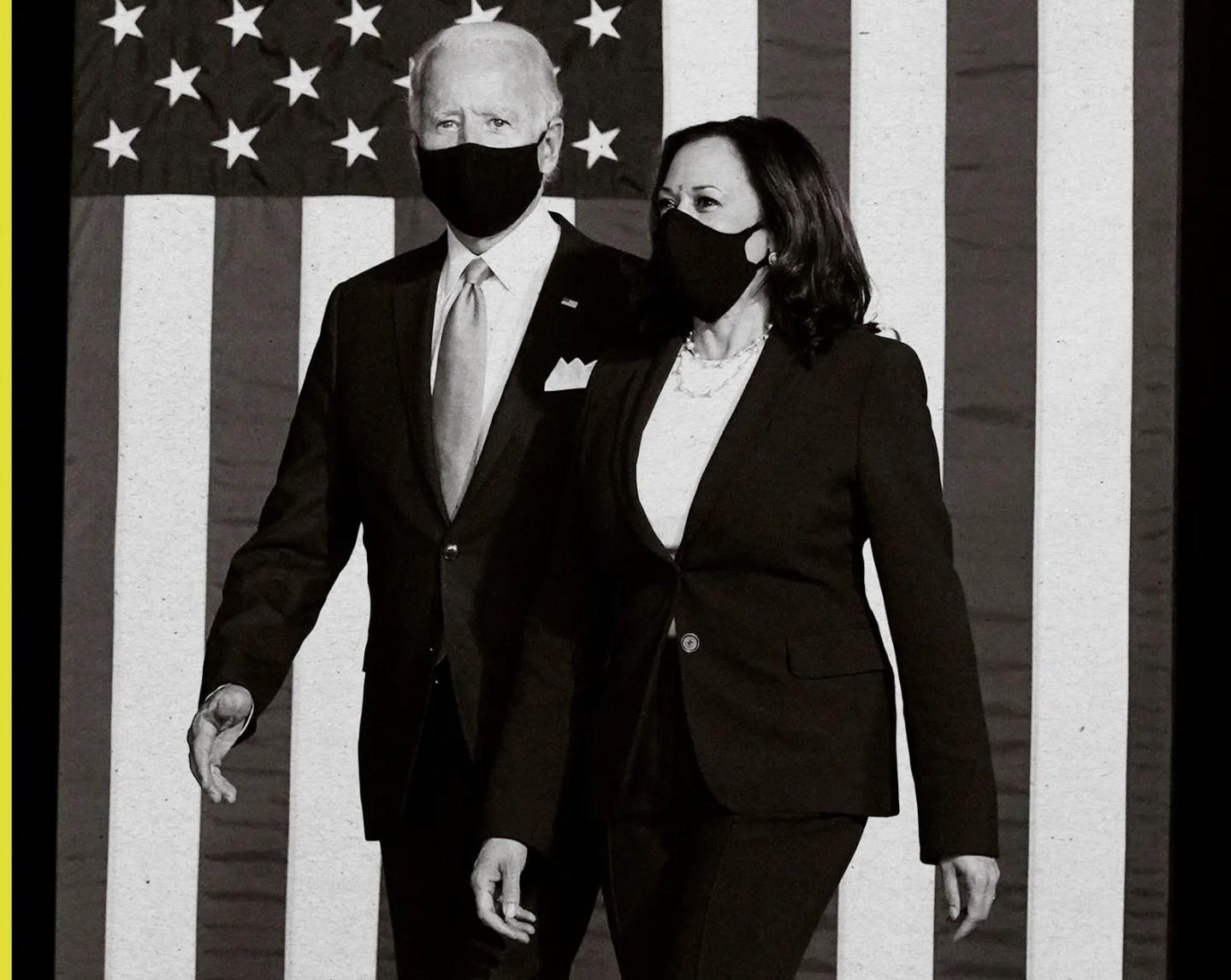 Joe Biden and Kamala Harris in Wilmington, Del., Aug. 12, 2020.