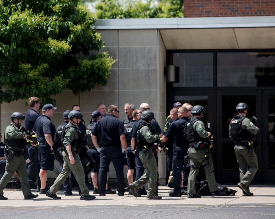 Newark police and fire ran an active shooter drill at Newark Catholic High School Wednesday afternoon.