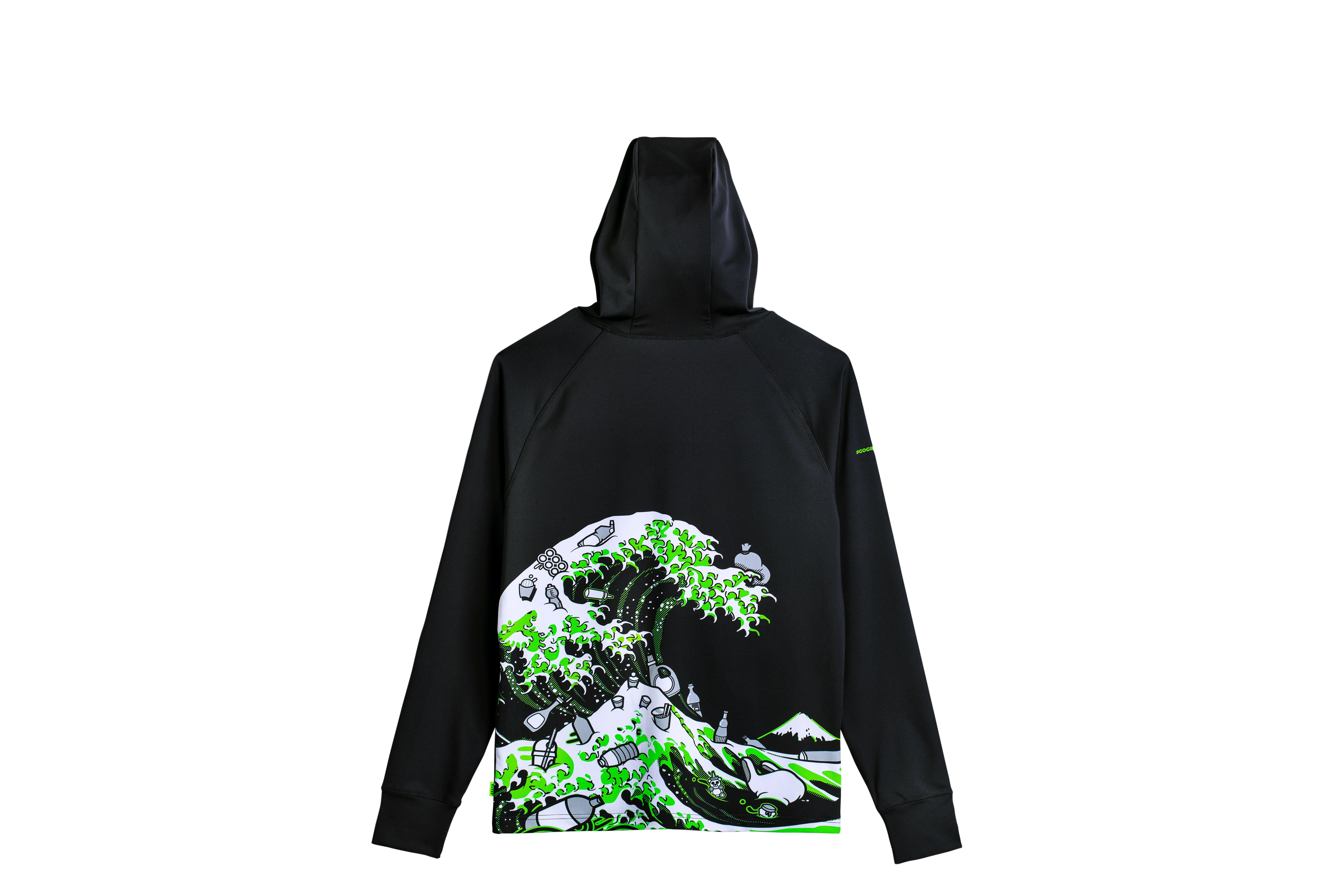 Gaming hardware company Razer is offering a new, limited-edition clothing line inspired by the famous Great Wave woodcarving off the coast of Kanagawa.  This hoodie ($ 149.99) and other products are made from materials created from reclaimed marine plastics and will fund efforts to reduce plastics in the oceans.