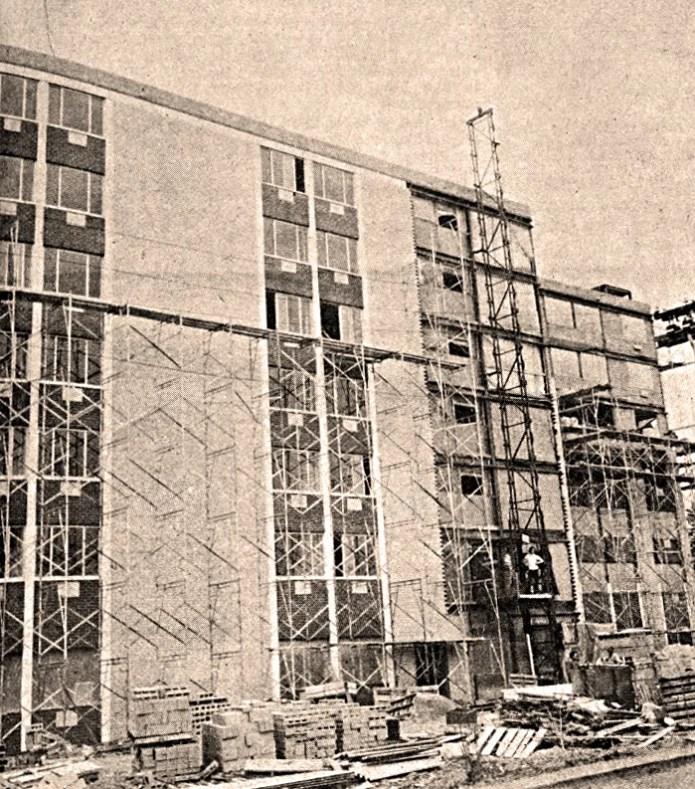St. Mark's Terrace in Penn Yan under construction in 1971.