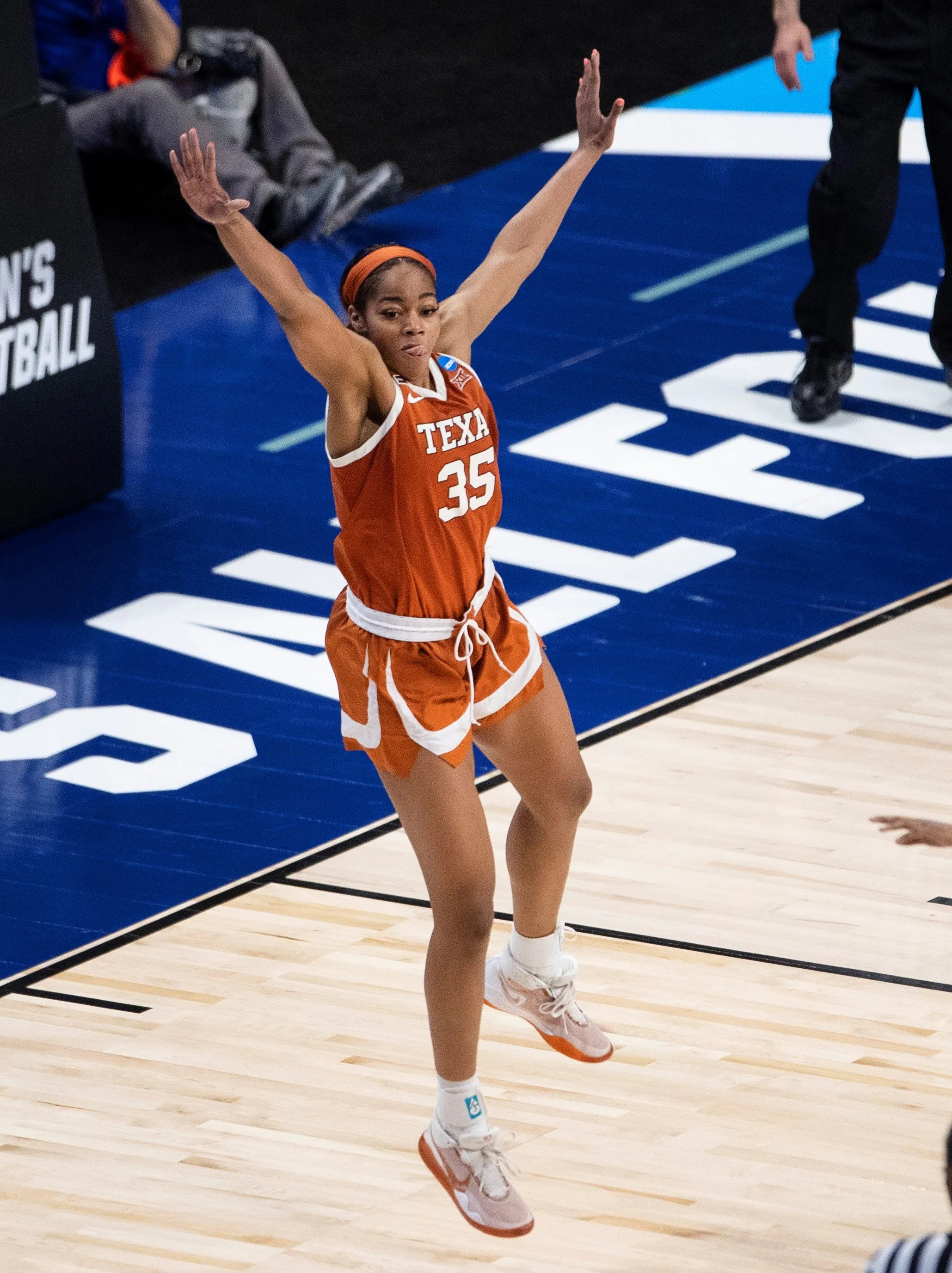 Texas forward Charli Collier helped lead the Longhorns to the Elite Eight of the NCAA women's basketball tournament following an upset of No. 2 seed Maryland in the Sweet 16.