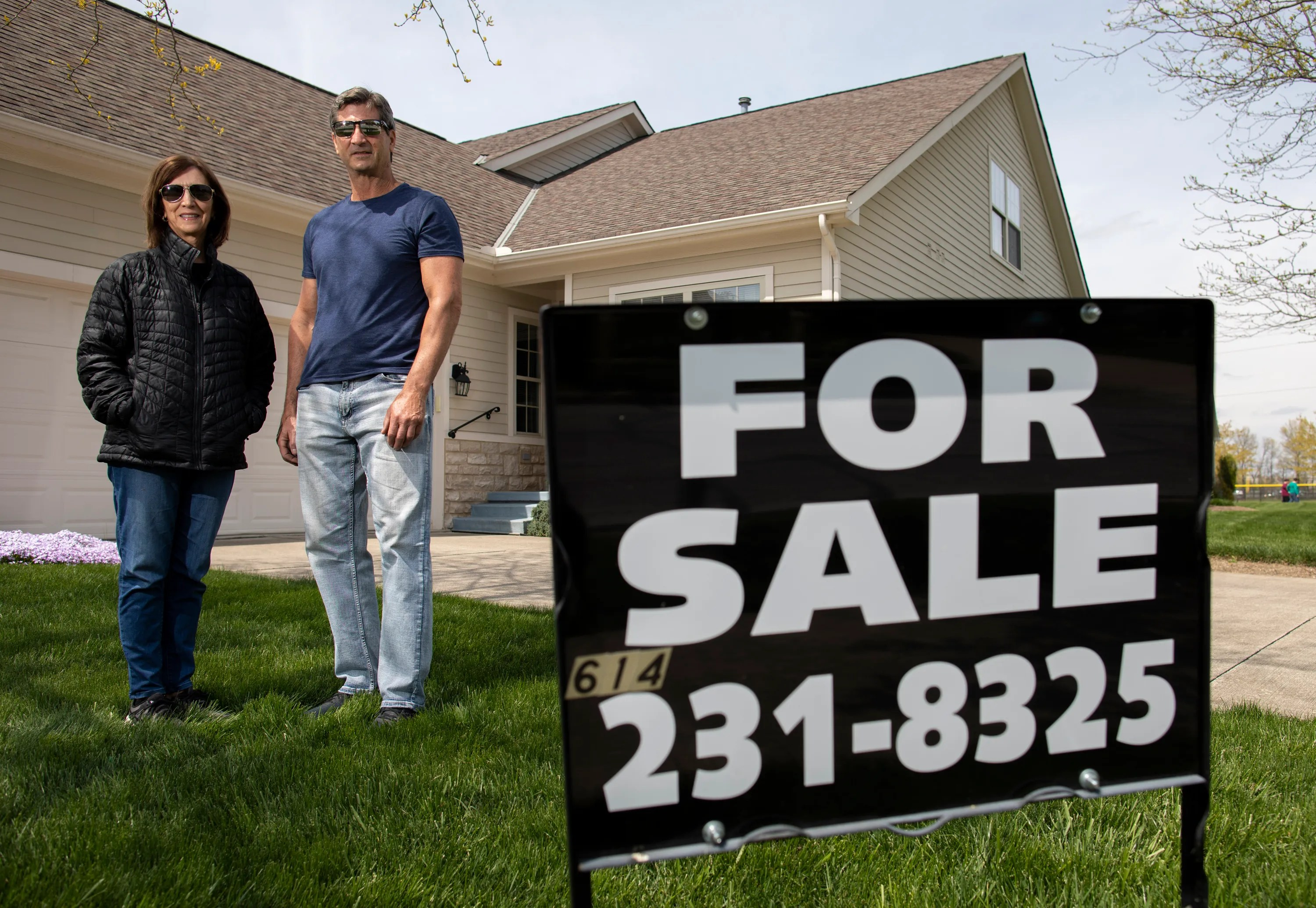 """Sandy and Jeff Groom are selling the Westerville house of Sandy's late father on their own, without a real estate agent. """"People shouldn't be scared to do it themselves,"""" Jeff said."""