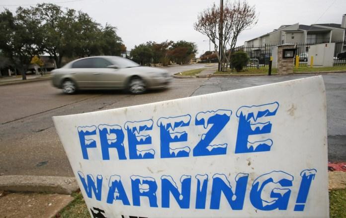 Sign on Nov. 24, 2013, in Dallas, Texas.