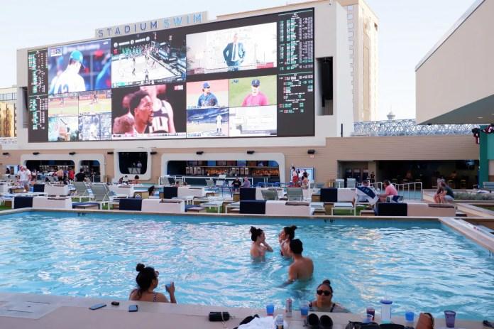 Circa's Stadium Swim on April 23, 2021.