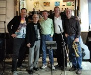 Pete Gitlin, far left, with the Pita Jungle Jazz Jam house band in Chandler.