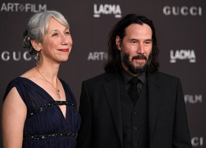Alexandra Grant and Keanu Reeves attend the 2019 LACMA Art + Film Gala on November 2, 2019 in Los Angeles.