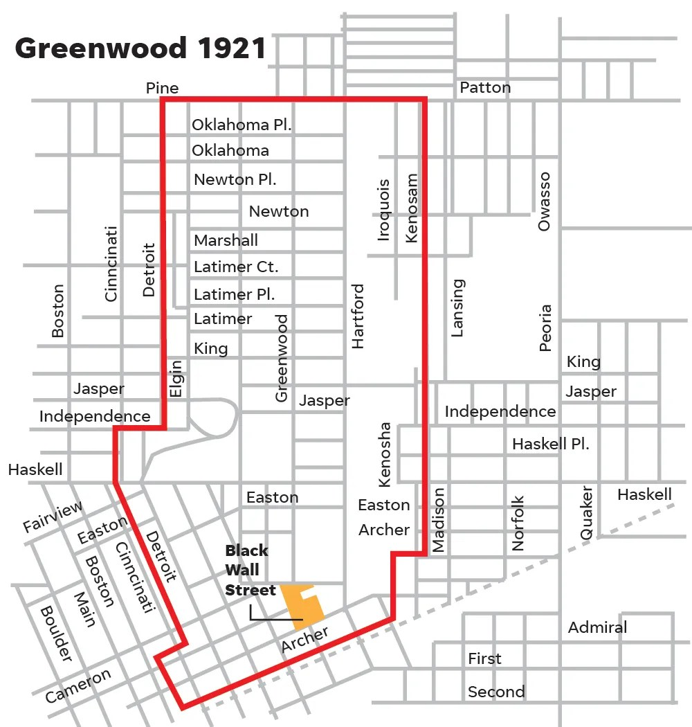 Greenwood District of Tulsa in 1921