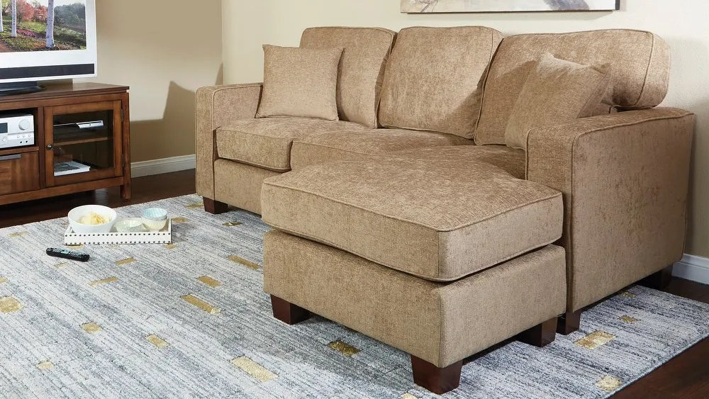 The Copper Grove sectional sofa has been praised by customers with small living rooms.