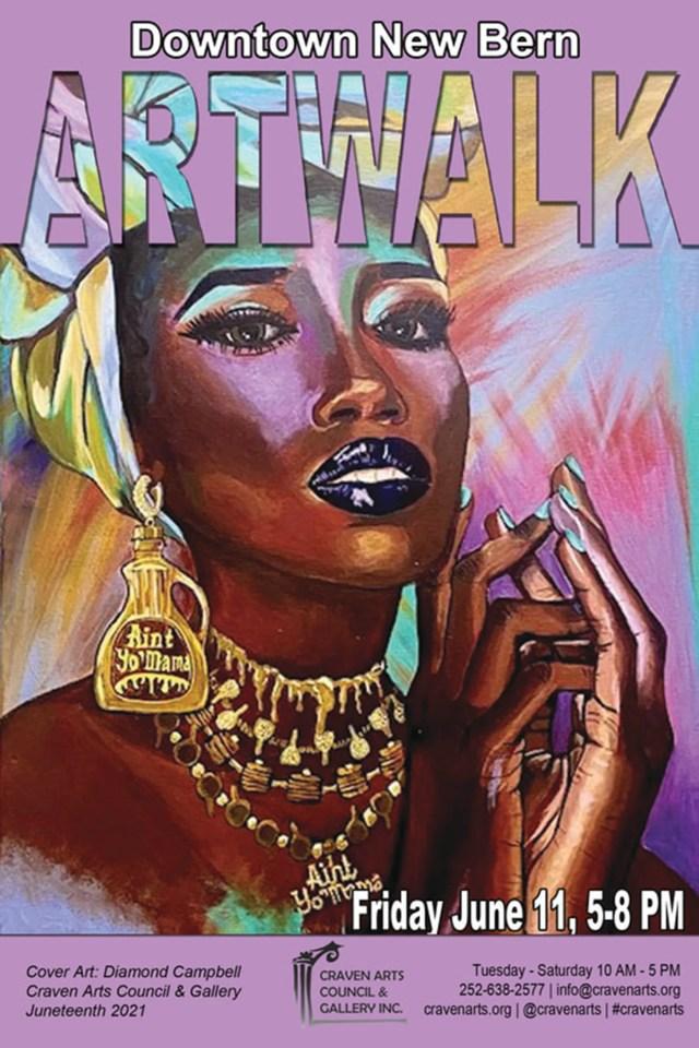 Diamond Campbell's updated Aunt Jemima portrait graces the Juneteenth edition ArtWalk cover.