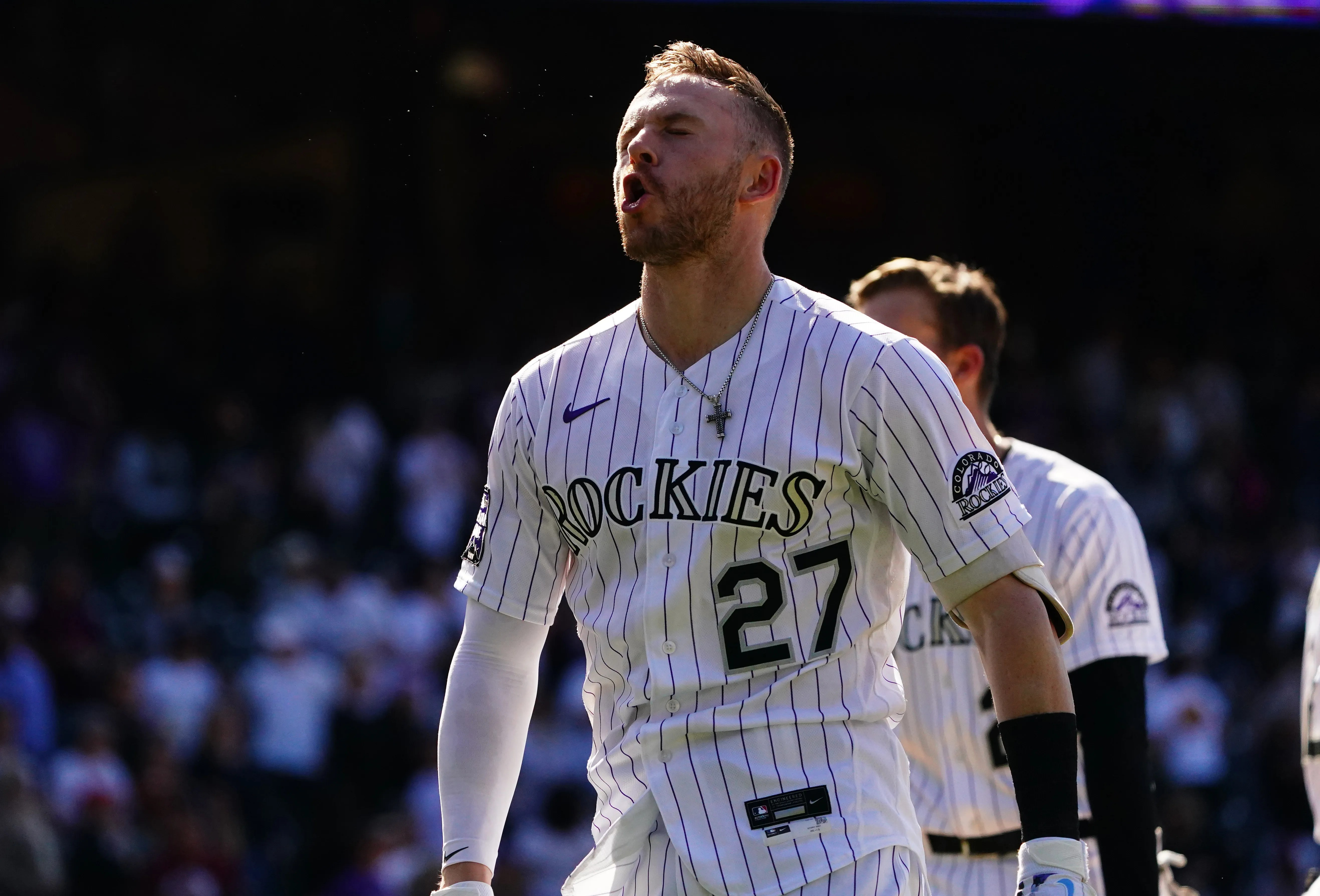 Trevor Story could earn a big salary when he becomes a free agent after the season.
