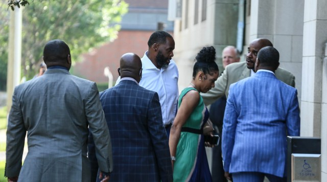 Former Mayor Kwame Kilpatrick arrives at the Historic Little Rock Baptist Church to minister to the congregation in Detroit on Sunday, June 13, 2021.