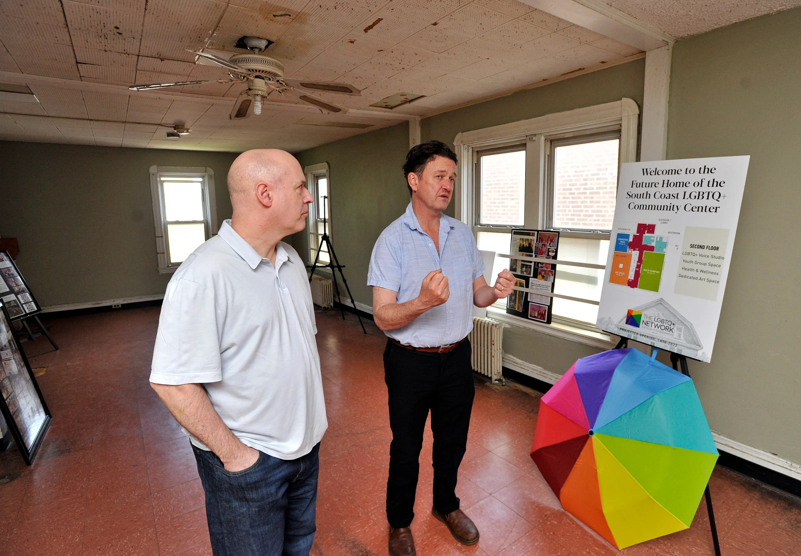 Kerry Zeida and Andy Pollock talk about the renovations to the South Coast LGBTQ Community Center that will be opening on 60 Eighth St. in New Bedford.