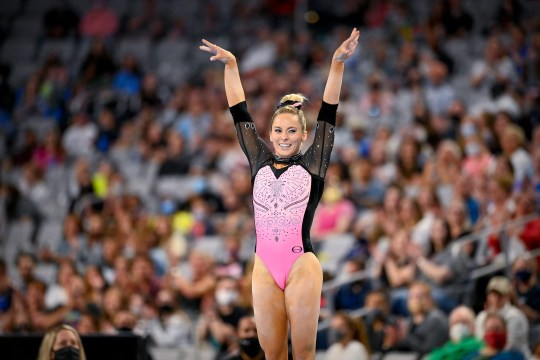 Jun 6, 2021; Fort Worth, TX, USA; USA gymnast MyKayla Skinner during the US Championships at Dickies Arena. Mandatory Credit: Jerome Miron-USA TODAY Sports